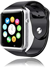 Style Asia Touch Screen Bluetooth Enabled Smart Watch, Camera, Music, Fitness Tracker and Pedometer, Black Matte Finish, C...