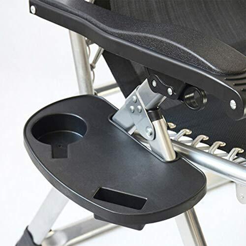 YASEking Silla Plegable de Siesta Casual sillón de Mimbre Bandeja portátil Tenedor de teléfono móvil