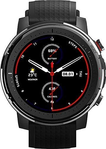 ساعة ذكية أمازفيت ستراتوس 3 الرياضية - أسود