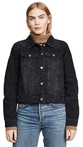 Free People Women's Rumors Denim Jacket, Black, Medium