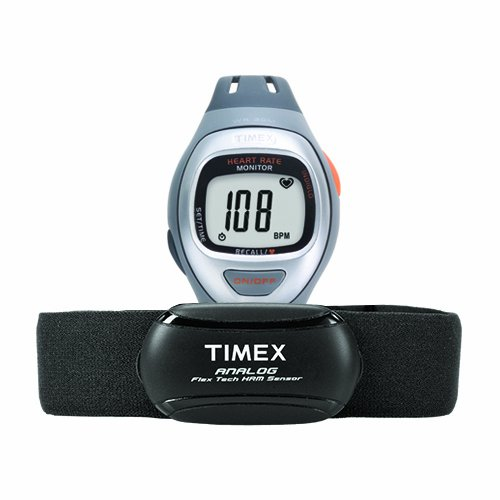 Best Price Timex Unisex T5K730 Easy Trainer Analog HRM Flex Tech Chest Strap & Mid-Size Gray/Silver-...