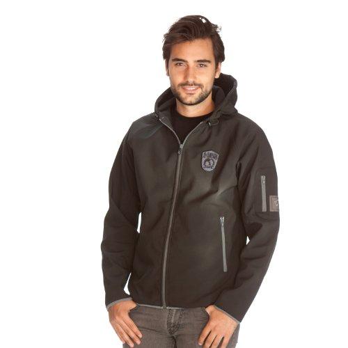 iQ-Company Herren Softshell-Jacke Hood Around The World, Black, XXL, 848542.2800_2800