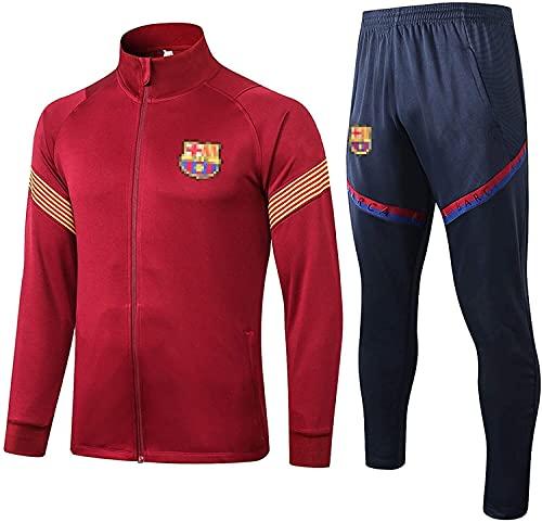 KMILE Bǎrcělǒnǎ Fútbol oficial de fútbol Jersey de fútbol Jersey Traje de fútbol Juego de excursiones y pantalones Traje de entrenamiento Desgaste de la ropa deportiva, 2021 Uniformes de Maroon Correr