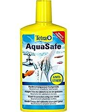 Tetra AquaSafe (Qualitäts-Wasseraufbereiter für fischgerechtes und naturnahes Aquariumwasser, neutralisiert fischschädliche Stoffe im Leitungswasser), verschiedene  Größen