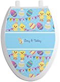 YouCustomizeIt Happy Easter Toilet Seat Decal - Elongated (Personalized)