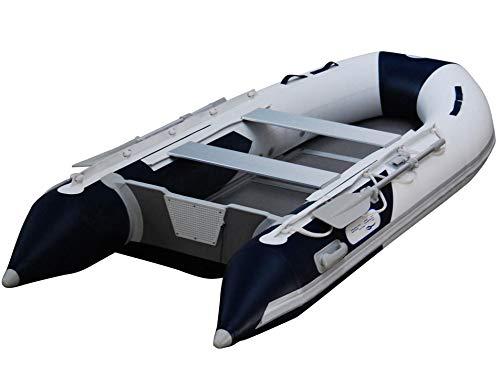 Balsa hinchable Prowake AL330: 330cm de largo con base de aluminio, color azul y blanco, perfecta para entre 3 y 4 personas