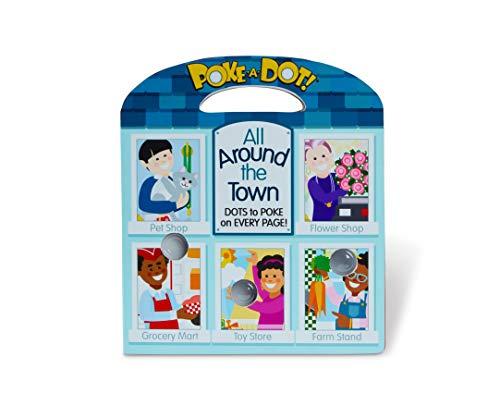 Melissa & Doug Children's Book – Poke-a-Dot: All Around Our Town