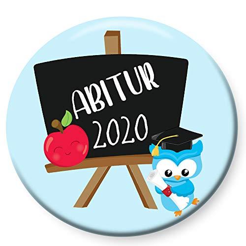 Polarkind Button Pin Anstecker Geschenk zum Abitur 2020 Abi 38mm Handmade (Abi Tafel)