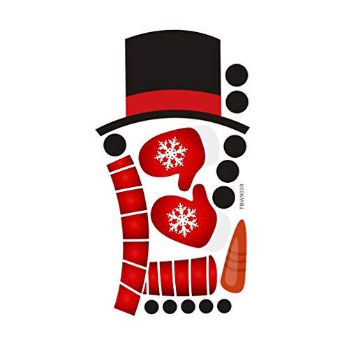 Toddmomy 1 Hoja de Muñeco de Nieve Pegatinas de Refrigerador Pegatinas de Navidad Autoadhesivas Pegatinas de Vacaciones para Fiestas de Navidad Suministros de Favores