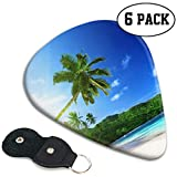 Beach In Sunset Time en Mahe Island en Seychelles Elecciones de guitarra flexibles Selecciones de guitarra especiales Paquete de 6 regalo pesado