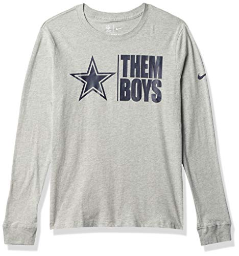 Dallas Cowboys NFL Dallas Cowboys Womens Nike Split Local Logo Long Sleeve T-Shirt, Dark Gray Heather, Large