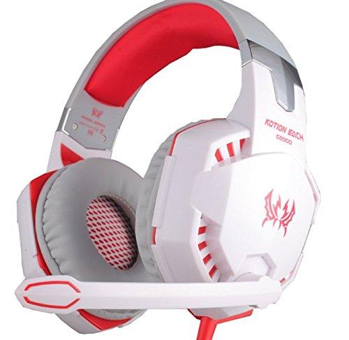 KOTION EACH G2000Over-ear Juego de juegos de auricular diadema con micrófono estéreo Bass luz LED…