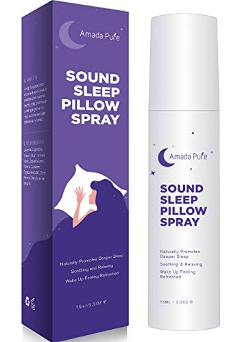 Amada Pure Deep Sleep Pillow Spray with Lavender Essential Oils 75ml/2.5oz. Breathe Deep & Free for Soothing, Relaxing Rest.