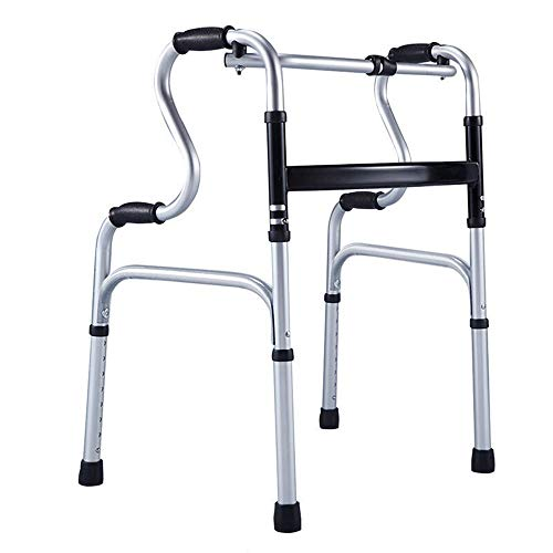 Silla de Ruedas Wheelchair Sillas de Ruedas Andador Plegable Liviano con Marco Ajustable para Caminar con Una Carga Máxima De 180 Kg 🔥
