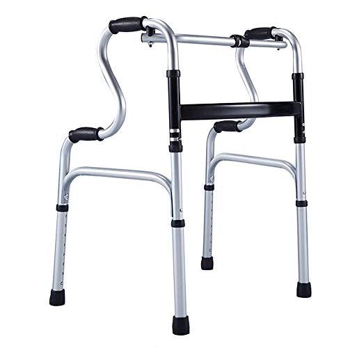 Silla de Ruedas Wheelchair Sillas de Ruedas Andador Plegable Liviano con Marco Ajustable para Caminar con Una Carga Máxima De 180 Kg
