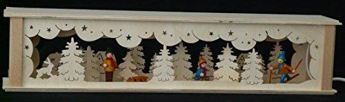Schwibbbooghoogten verlicht met winterkinderen in kleur B x H = 52 x 10 cm NIEUW lichtboog vensterbank Ertsgebergte hout