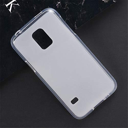 Capa para Samsung Galaxy S5 Mini, capa traseira de TPU macia resistente a arranhões à prova de choque de borracha de gel de silicone anti-impressões digitais Capa protetora de corpo inteiro para Samsung Galaxy S5 Mini (branca)