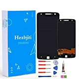Hezbjiti LCD Display Touch Screen Replacement Digitizer Glass Assembly Compatible for Motorola Moto Z Droid XLTE XT1650 XT1650-01 XT1650-03 XT1650-05 5.5' with Tools and Adhensive (Black)