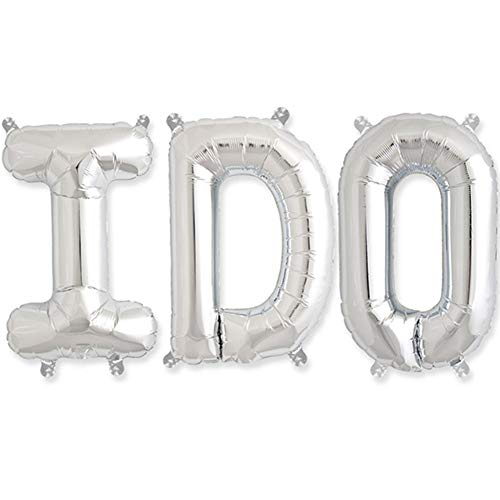 Great Price! I Do Silver Foil Balloon Kit - 16 Inch Letters - 4 Kits
