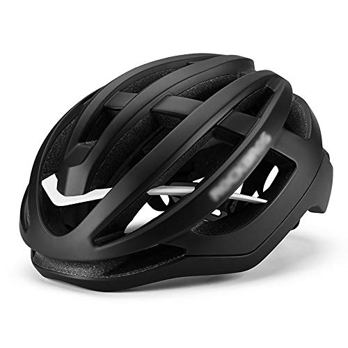 ZHJC Casque de vélo Adulte Casque de vélo pneumatique Casque de vélo Casque de Moulage intégré Homme Mountain Equipment Vélo Casques de vélo de Montagne et de Route (Couleur : Black, Size : L)