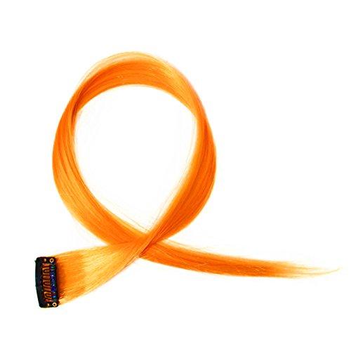 PRETTYSHOP Colorful cheveux brins saillants 1 x clip en extensions de 55 cm Extension de cheveux lisse postiche de longs cheveux différentes couleurs