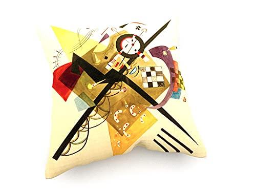 weewado Wassily Kandinsky - Skizze für On White II 40x40 cm Sofa-Kissen aus Satin - Kunst, Gemälde, Foto, Bild auf Kissen - Alte Meister/Museum