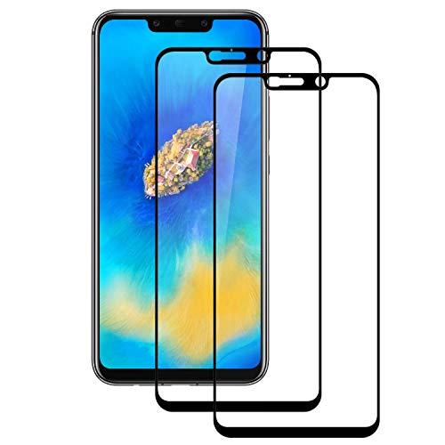 DOSMUNG Cristal Templado para Huawei Mate 20 Lite, [2 Pack] Vidrio Templado de Huawei Mate 20 Lite, Cobertura Completa/Dureza 9H/3D Curvado/Anti Arañazos Protector de Pantalla para Huawei Mate 20 Lite
