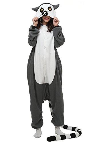 Unisex Adult Lemur Costume/Pajama