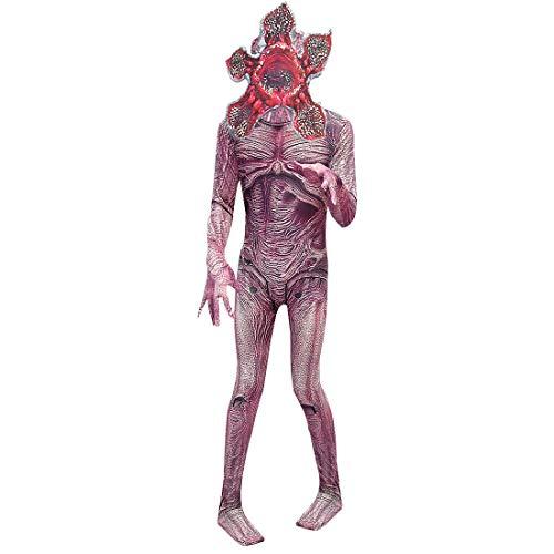 Lito Angels niños Traje de Demogorgon para de Mono Zentai Disfraz Flor de caníbal Cosplay Fiesta disfrazarse de Halloween con máscara Talla 11-12 años Estilo B