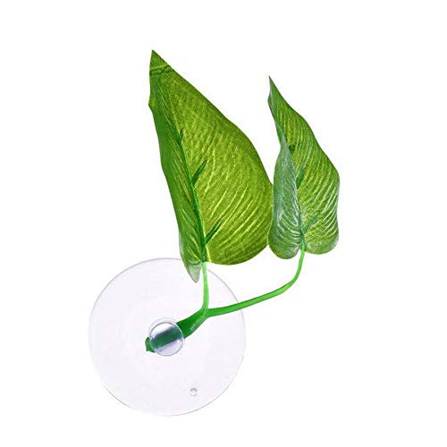 Aquarium Artificial Plant Leaf Betta Hammock Tropical Fish Tank Fish Hide Rest Spawning Bed Decoration Green Water Grass Aquariums Supply Accessories Ornament Betta Leaves With Suction Cup