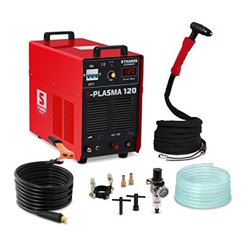 Stamos Germany - S-PLASMA 120 - Plasmaschneider CUT 120-400 V - max. 120 A - ED 60{099daebf0dad5ae3c4c6973a768b580c5032944387ac257ce8ad2afbb2e7059c} - HF - 38,2 kg
