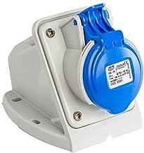 Base enchufe industrial hembra 2P+T 220V IP44 superficie 16