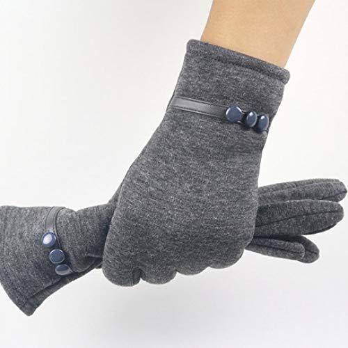 SUNHAO Damenhandschuhe Touchscreen Nicht Daunen-Samt 3-Tasten-Design Herbst und Winter Mode warme koreanische Version Fahrradhandschuhe