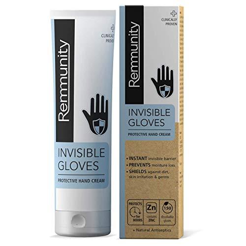 Guantes Invisibles Remmunity - Crema Protectora para Manos - Lucha Contra Virus, Bacterias y Gérmenes - Barrera Invisible Instantánea Clínicamente Probada con Antisépticos Naturales