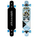 INNOWEIGH 41 Inch Freestyle Longboard Skateboard Drop Through Complete Skateboard Cruiser for Cruising Professional Beginners Longboard Gray