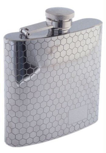 Colonel Conk Model 1007 Rimless Flask with Honeycomb Pattern, 6 oz