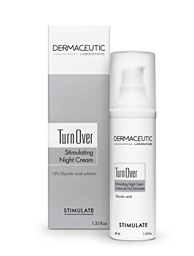 Dermaceutic Turnover - Crema rejuvenecedora nocturna - Crema antienvejecimiento con ácido glicólico - Crema facial exfoliante, regeneradora y antiarrugas - 40 ml