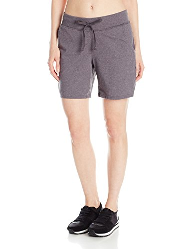 Hanes Women's Jersey Short, Charcoal Heather, Small