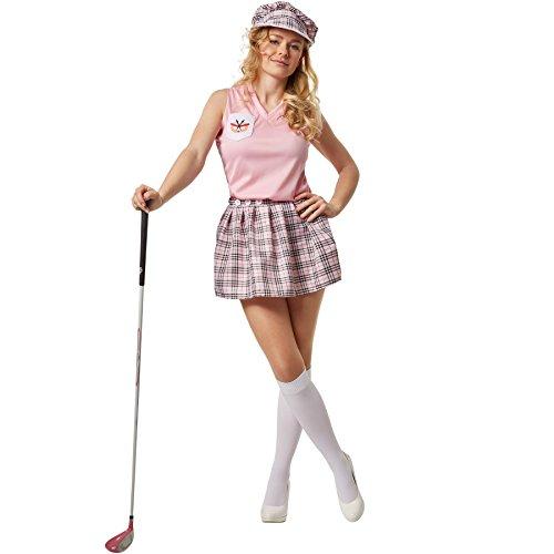 dressforfun Frauenkostüm Golferin | Sportives Golf-Outfit | incl. Golfmütze mit Sonnenschild (L | no. 301796)