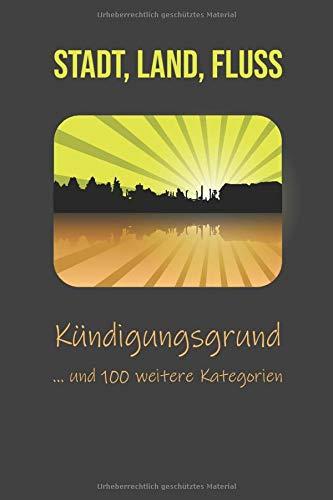 Stadt Land Fluss: Der Spieleklassiker für Erwachsene mit über 100 Kategorien, A5, 50 Blatt