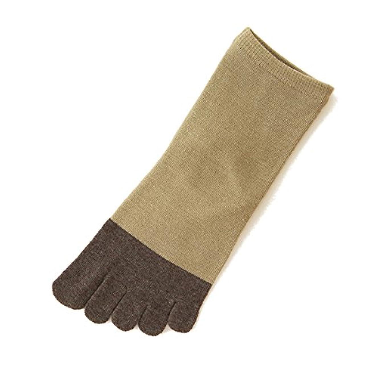 小さい荒らす滑りやすい[靴下屋]クツシタヤ 2面切り替え5本指ソックス 22.0~24.0cm 日本製 五本指靴下