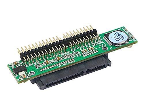 YAODHAOD SATA 7+15-polige Buchse auf 44-poligen IDE-Stecker HDD Laptop Festplatte, 1,5 GB unterstützt ATA 133 100 HDD CD DVD serielle Konverter (SATA F/IDE M)