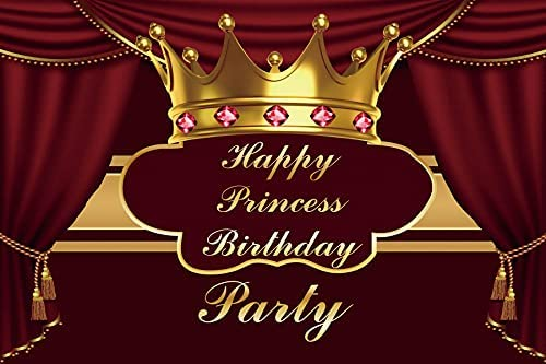 Yeele 10x8ft Ranking TOP8 Princess Birthday Sale Party Sparklin Crown Backdrop Red