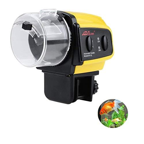 Kuiji - Alimentatore automatico per pesci per acquario, dispenser automatico per pesci