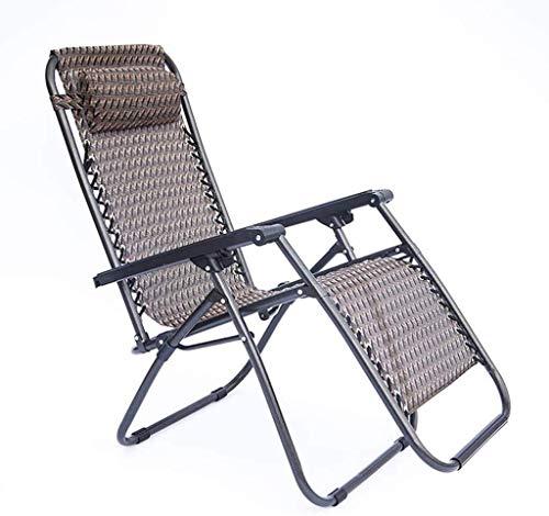 WJXBoos Sunbed, Silla reclinable Plegable de Gravedad Cero con cojín Desmontable, Repelente al Agua, soporta hasta 140 kg