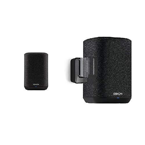 Denon Home 150 Lautsprecher, schwarz + Vogel's Sound 3200 Halterung