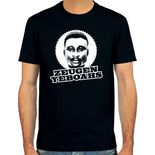 SpielRaum T-Shirt Anthony Tony Yeboah ::: Farbauswahl: SkyBlue, Sand, deepred, schwarz, Oliv oder Navy ::: Größen: S-XXL ::: Fußball-Kult