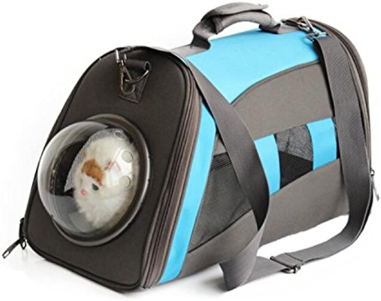 Cat and Dog Pet Handbag Canvas Travel Outdoor Transparent Breathable Pet Shoulder Bag Pet Nest, Mountain Climbing, Shopping ZHANGOR,A