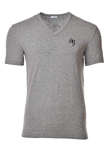 Dolce & Gabbana Camiseta Hombre V Profondo, D & G, Manga Corta, Uni, Logotipo - Gris: : Medium