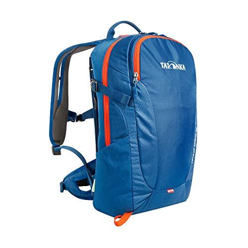Tatonka Wanderrucksack Hiking Pack 15l mit Rückenbelüftung und Regenschutz - Kleiner, komfortabler Rucksack zum Wandern mit RECCO-Reflektor - Damen und Herren - 15 Liter - blau
